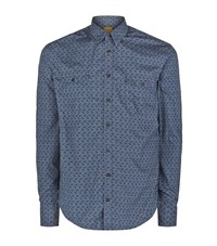Boss Orange Paisley Shirt Male Blue