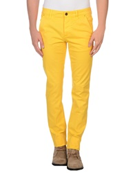 Camouflage Ar And J. Casual Pants Yellow