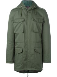 Daniele Alessandrini Hooded Military Coat Green