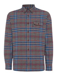 Howick Litchfield Classic Checked Long Sleeve Shirt Grey Marl