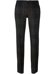 Barbara Bui Checked Slim Fit Tailored Trousers Multicolour