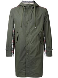 Clothsurgeon Tartan Panel Parka Green