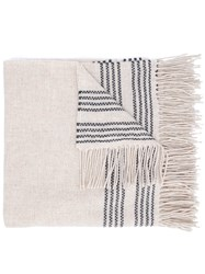 Eileen Fisher Large Woven Scarf Nude And Neutrals