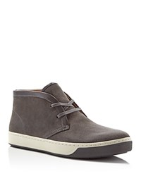 Vince Abe Perforated Suede Chukka Boots Carbon Graphite