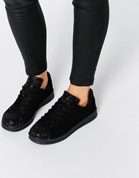 Missguided Glitter Trainers Black
