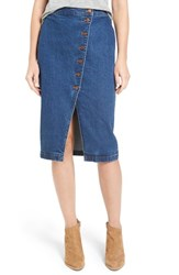 Madewell Women's Denim Midi Skirt