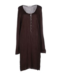 Alpha Massimo Rebecchi Dresses Knee Length Dresses Women Dark Brown
