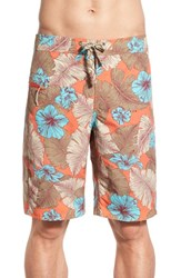 Men's Patagonia 'Wavefarer' Print Board Shorts Cusco Orange