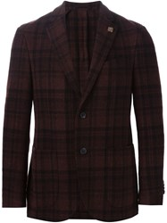 Lardini Checked Blazer Red