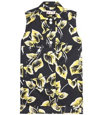 Marni Sleeveless Floral Printed Shirt Black