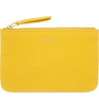 Mulberry Grained Leather Coin Pouch Canary