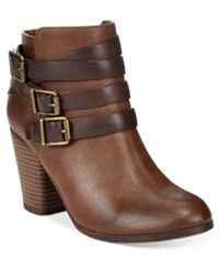 Material Girl Minah Ankle Booties Only At Macy's Women's Shoes Cognac