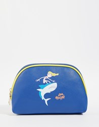 Love Moschino Cosmetic Case Blue