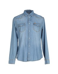 Liu Jo Jeans Denim Denim Shirts Men Blue