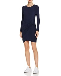 Astr Naomi Twist Front Dress Navy