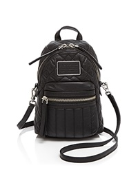 Marc By Marc Jacobs Domo Biker Quilted Mini Backpack Crossbody Black