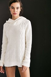 Bdg Cable Hoodie Sweater Ivory