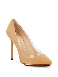 Charlotte Olympia Party Monroe Suede Pumps Nude