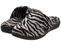 Vionic With Orthaheel Technology Gemma Mule Slipper Dark Grey Zebra Women's Slippers Animal Print