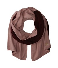 Cole Haan Doublefaced Colorblock Muffler Pink Red Scarves