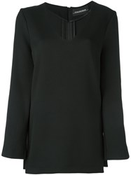 By Malene Birger V Neck Blouse Black