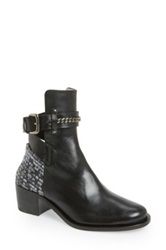 Plomo 'Bernadette' Leather Bootie Women Black