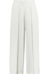 Iris And Ink Ingrid Cropped Crepe Wide Leg Pants