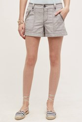 Pilcro Linen Shorts Grey