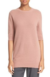 Vince Women's Elbow Sleeve Cashmere Sweater Rose Hip