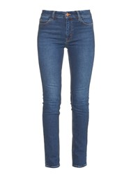 Mih Jeans Daily Mid Rise Straight Leg Denim Jeans