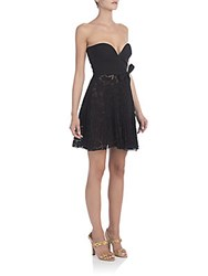 Valentino Sweetheart Strapless Lace Dress Black