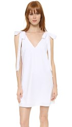 Amanda Uprichard Bow Tank Dress White