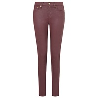 Reiss Stevie Coated Low Rise Skinny Jeans Berry
