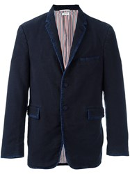 Thom Browne Single Button Casual Blazer Blue