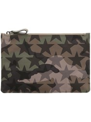 Valentino Small 'Camustars' Clutch Bag Green