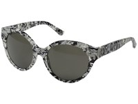 Tory Burch 0Ty7087 Black White Marble Dark Smoke Solid Fashion Sunglasses Gray