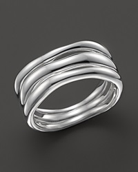 Ippolita Glamazon Sterling Silver Triple Band Squiggle Ring