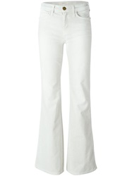 Current Elliott Corduroy Flared Trousers Nude And Neutrals
