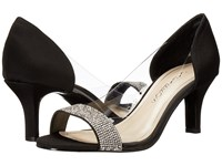 Caparros Fancy Black Clear Faille High Heels