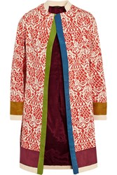 Vineet Bahl Printed Cotton And Silk Blend Coat