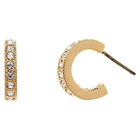 Cachet London Gold Plated Small Hoop Crsytal Earrings Gold