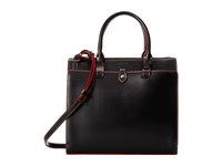 Lodis Audrey Linda Medium Satchel Black Red Satchel Handbags
