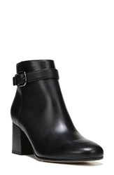 Via Spiga Women's Maxine Ankle Strap Bootie Black Black Leather