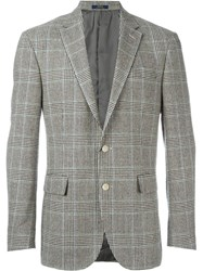 Polo Ralph Lauren Houndstooth Check Blazer Nude And Neutrals