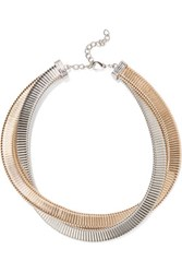 Kenneth Jay Lane Gold And Silver Plated Necklace