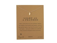 Dogeared Light As A Feather Reminder Gold Necklace