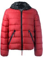 Duvetica Padded Hooded Jacket Red