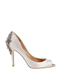 Badgley Mischka Nilla Peep Toe Pumps Ivory