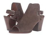 Frye Dani Shield Sling Dark Taupe Suede Women's Boots Brown