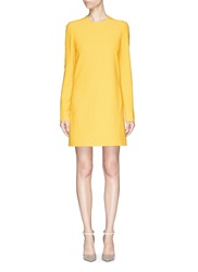 Victoria Beckham Open Bow Back Double Crepe Shift Dress Yellow